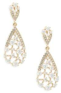 Adriana Orsini Frozen 18K Goldplated Crystal Dangle Drop Earrings