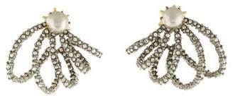 Alexis Bittar Faux Pearl & Crystal Lace Orbit Stud Earrings