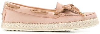 Tod's lace detail loafers