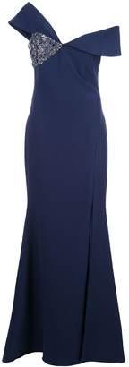Badgley Mischka off the shoulder embellished dress