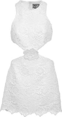 Fausto Puglisi Sleeveless Macrame Cutout Dress