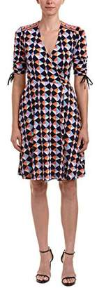 Donna Morgan Women's Printed Ruffle Fit and Flare Dress