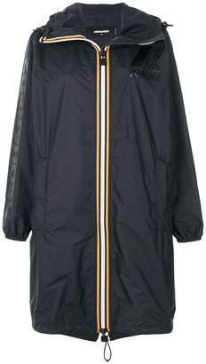 DSQUARED2 x K-Way contrast panel windbreaker coat