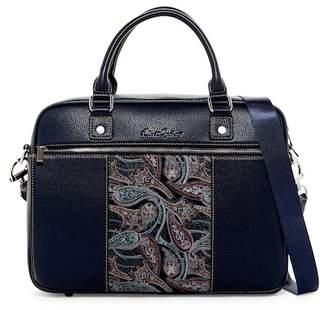 Robert Graham Vatican Leather Trim Messenger Bag