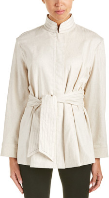 Josie Natori Linen-Blend Jacket