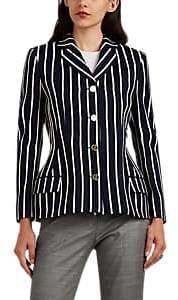 Thom Browne Women's Contoured Striped Wool-Blend Blazer - Navy