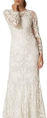 Phase Eight Bridal Aubrina Tapework Wedding Dress, Pearl