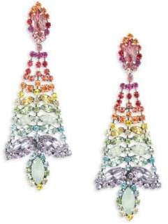 Dannijo Lala Multicolor Swarovski Crystal Drop Earrings