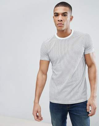 Esprit organic t-shirt in white with stripe
