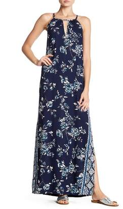 Angie Front Keyhole Print Maxi Dress