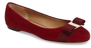 Women's Salvatore Ferragamo 'Varina' Leather Flat