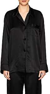 Araks Women's Kate Silk Long-Sleeve Pajama Top - Black