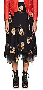 A.L.C. Women's Borden Floral Silk Skirt-Black