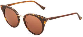 Dita Oversized Round Tortoiseshell Acetate Sunglasses