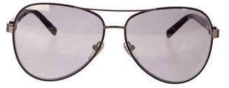 Diane von Furstenberg Aviator Metal Sunglasses