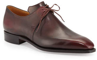 Arca Corthay Calf Leather Derby Shoe, Dark Burgundy