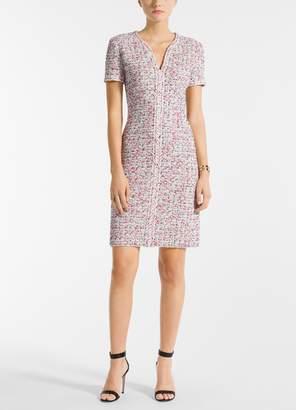 St. John Modern Pointale Knit V-Neck A-Line Dress