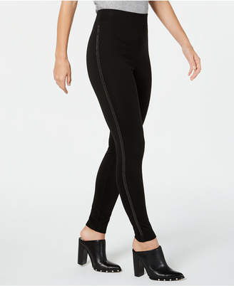 INC International Concepts I.N.C. Embellished Tuxedo-Stripe Leggings, Created for Macy's