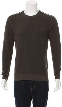 The Kooples Zip-Accented Crew Neck Sweater