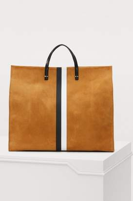 Clare Vivier Suede striped totebag