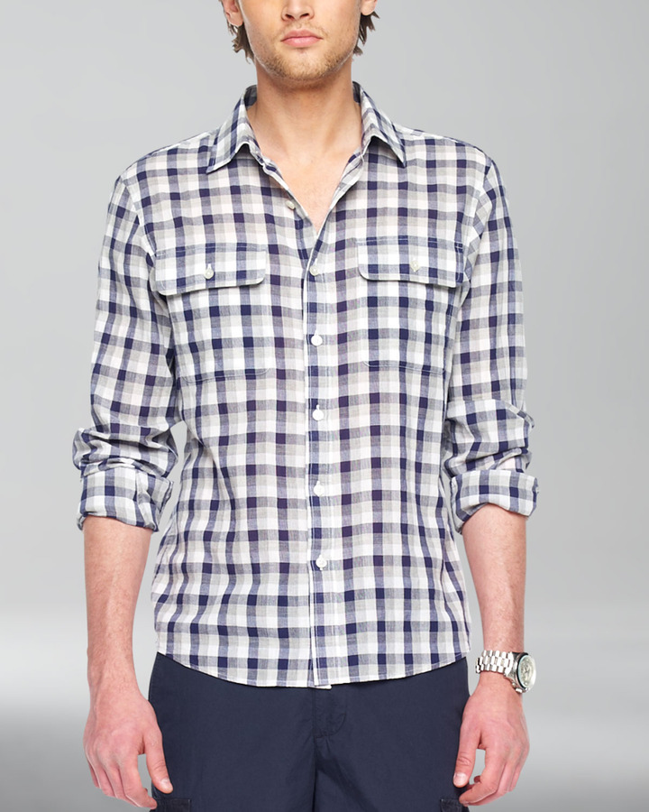 Michael Kors Check Button Shirt
