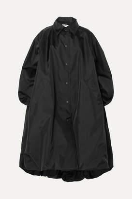 Balenciaga Oversized Canvas Coat - Black
