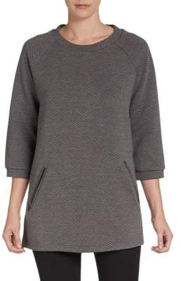 Saks Fifth Avenue RED Textured Ponte Knit Tunic
