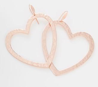Robert Lee Morris Rlm Jewelry By RLM Bronze Oversized Heart Drop Earrings