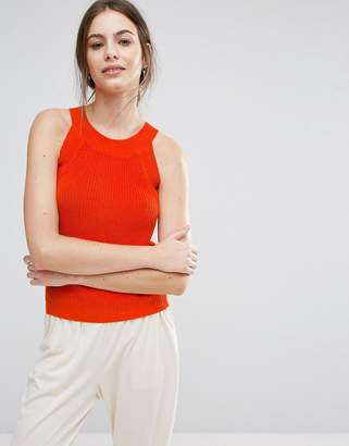 Selected Knitted Cut Out Top
