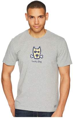 Life is Good Classic Lucky Dog Crusher Tee Men's T Shirt