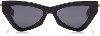Jimmy Choo DONNA Grey Cat Eye Sunglasses with Black Frame