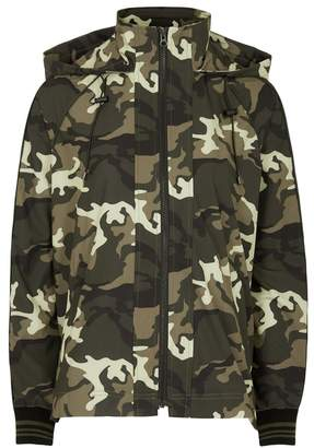 The Upside Camouflage Hooded Shell Jacket