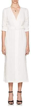 SIR The Label Women's Emmanuel Linen-Blend Midi-Dress