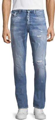 PRPS Demon Distressed Vintage-Style Slim-Straight Jeans