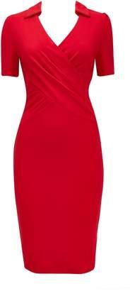 Wallis **Jolie Moi Red Wrap Dress
