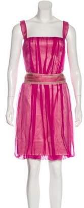 Dolce & Gabbana Sleeveless Cocktail Dress Magenta Sleeveless Cocktail Dress