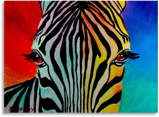 Trademark Fine Art Zebra Large Metal Wall Art