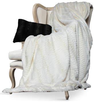 Luxe Embossed Micro Mink Twin Faux Fur Blanket