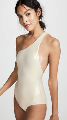 Melissa Odabash Metallic One Shoulder One Piece