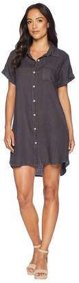 Allen Allen Short Sleeve Button Front Dress Women's Dress