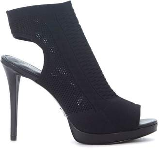 Michael Kors Tyra Black Fabric Heeled Sandal