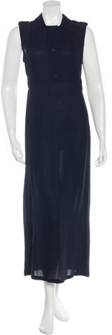 prada Prada Sleeveless Maxi Dress