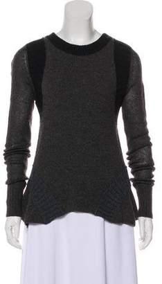 Lanvin Long Sleeve Crew Neck Sweater
