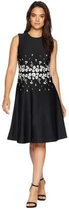 Calvin Klein Embroidered Waist Fit Flare Dress CD8M14PA Women's Dress