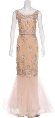 Marchesa Embellished Sleeveless Gown