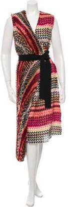 Tia Cibani Silk Printed Wrap Dress w/ Tags Pink Tia Cibani Silk Printed Wrap Dress w/ Tags