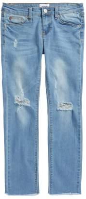 Hudson Lizzy Fray Hem Ankle Skinny Jeans