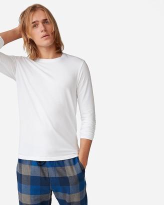 Express Slim Supersoft Long Sleeve Crew Neck T-Shirt