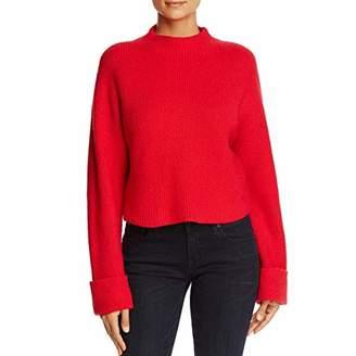 Kenneth Cole Women's Wide Cuff Mock Neck Sweater