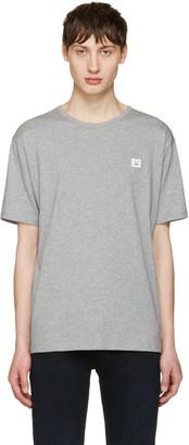 Acne Studios Grey Niagara Face T-Shirt $130 thestylecure.com